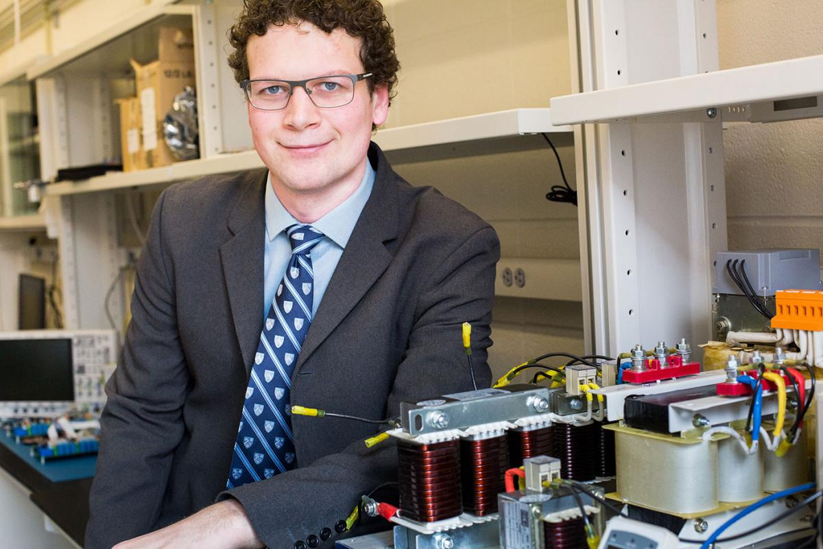 Columbia Assistant Professor of Electrical Engineering Matthias Preindl is developing virtual power converters for electric vehicles that could speed up onboard charging, cut costs, and increase reliability.