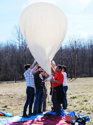 a high-altitude weather balloon