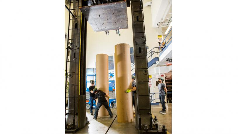 Uncrushable: How a 2,700-paper-tube Structure Stands Up to